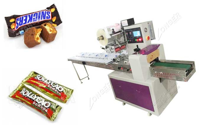 Small Granola Bar And Chocolate Bar Packaging Machine For Sale