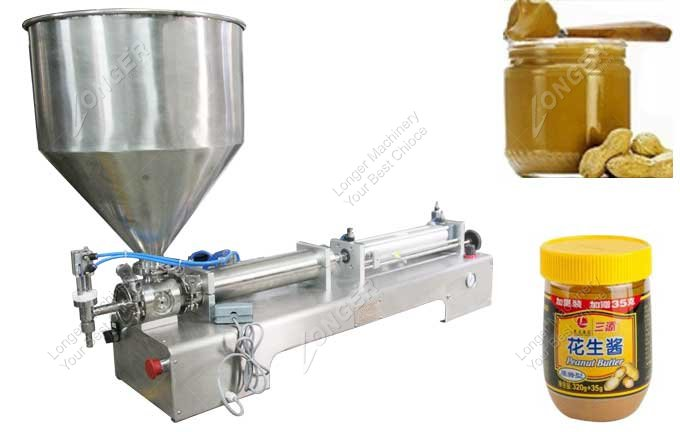 Manual Peanut Butter Jar Filling Machine For Sale