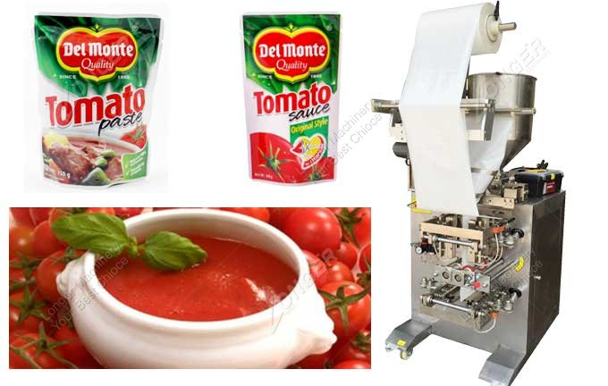 Commercial Tomato Ketchup Sauce Pouch Packing Machine Price