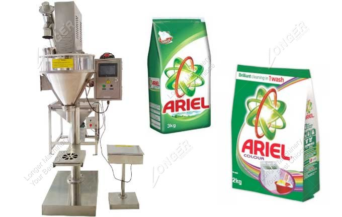 Bulk Detergent Powder Pouch Packing Machine With Packing Material