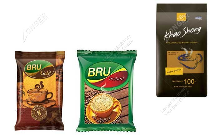 Instant Coffee Powder Packing Machine Samples