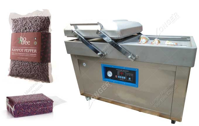 Commercial Dual Chamber Vacuum Packaging Machine For Rice